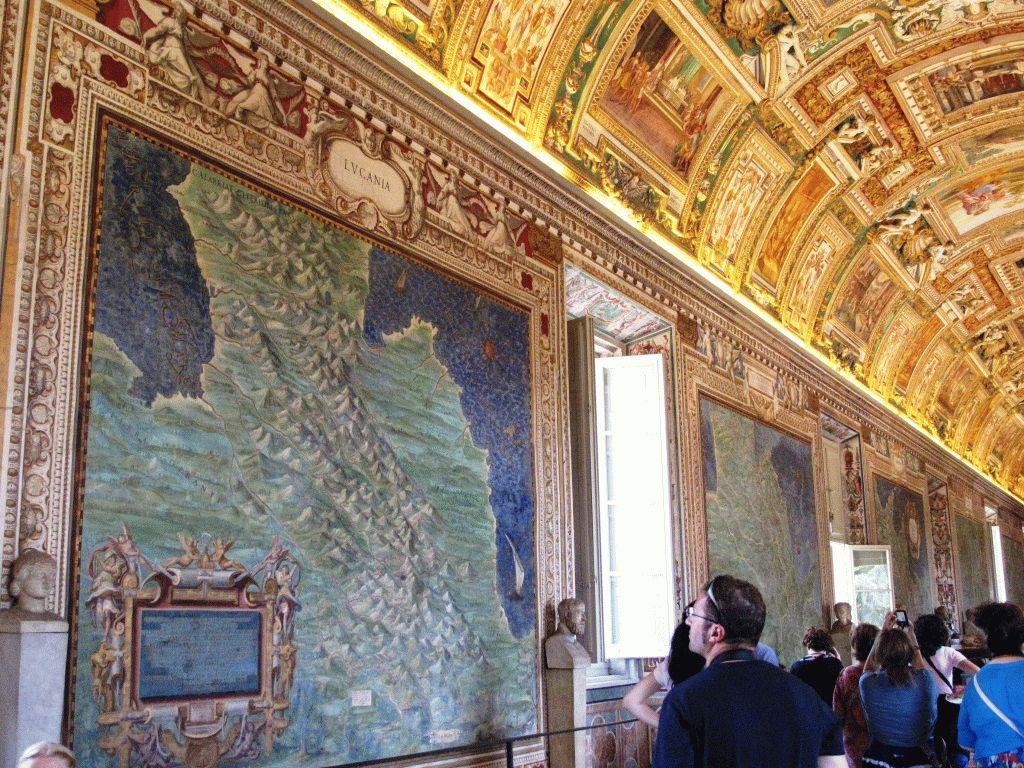 музеи ватикана зал карт фото