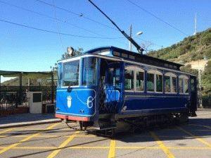 Tramvia Blau голубой трамвай Барселона фото