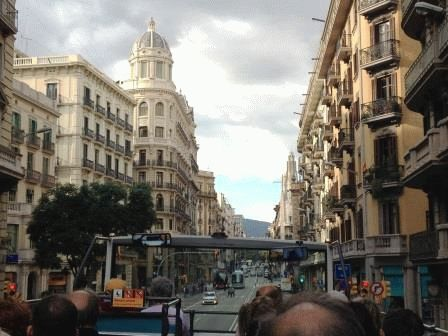 автобус в Барселоне фото