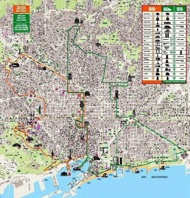 Карта маршрутов автобуса Сити