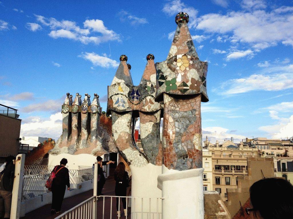 крыша каса Батло фото Барселона Гауди