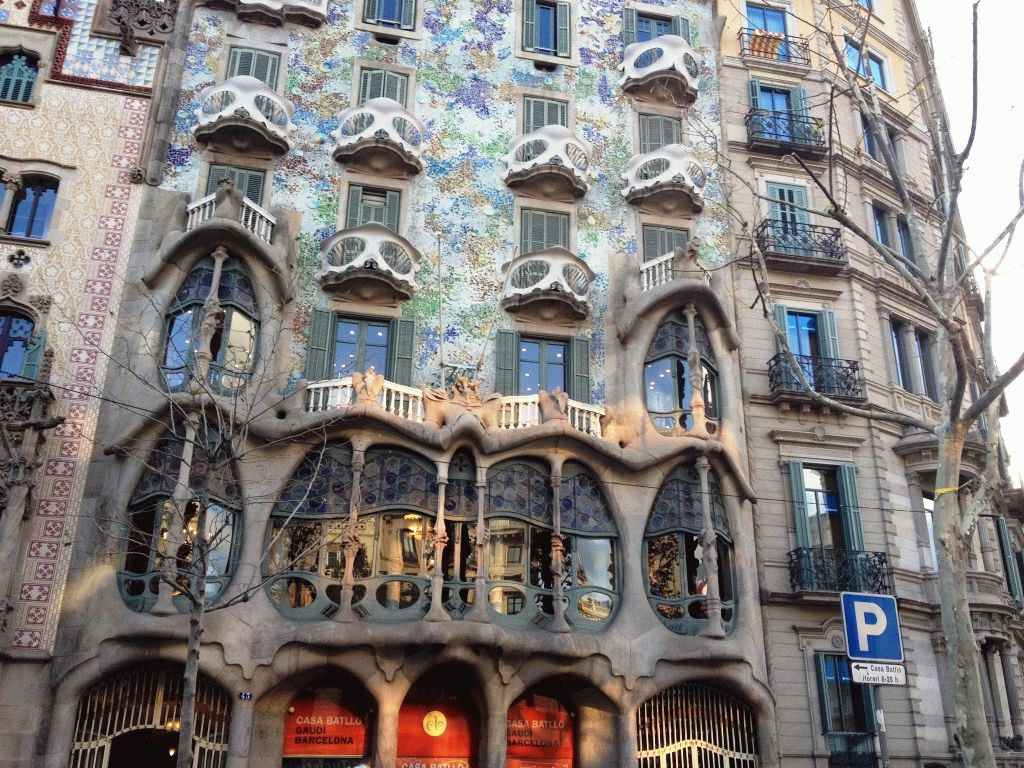фасад дома Бальо Каса Батло Барселона фото