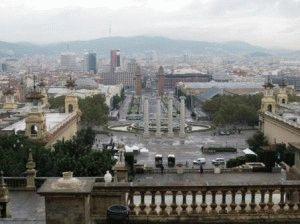 вид на Барселону от Музея национального искусства фото