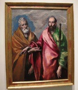 картина Эль Греко в Национальном музее искусства Барселона фото