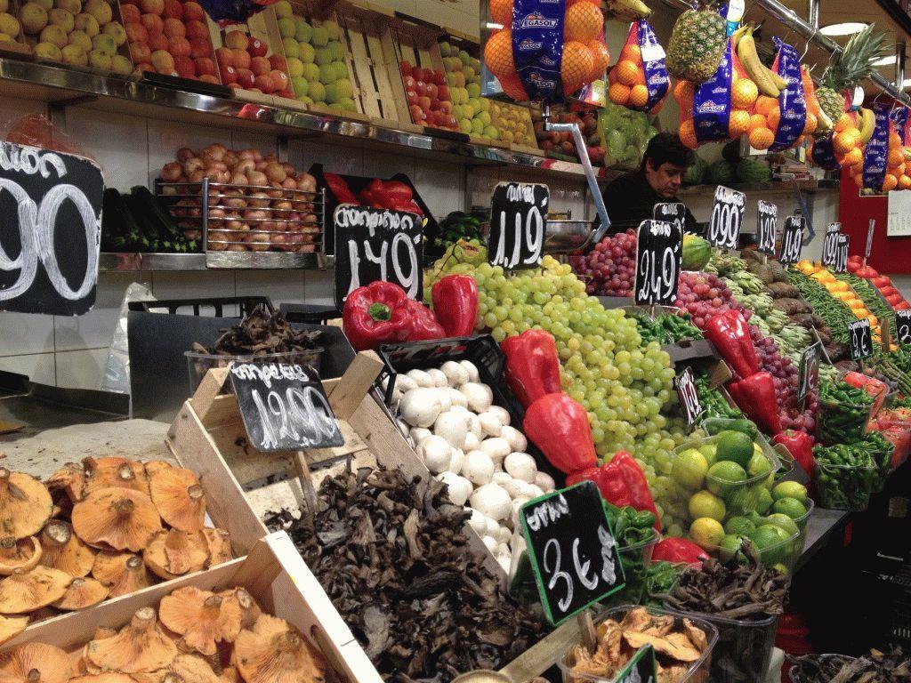 овощи рынок Бокерия Барселона фото