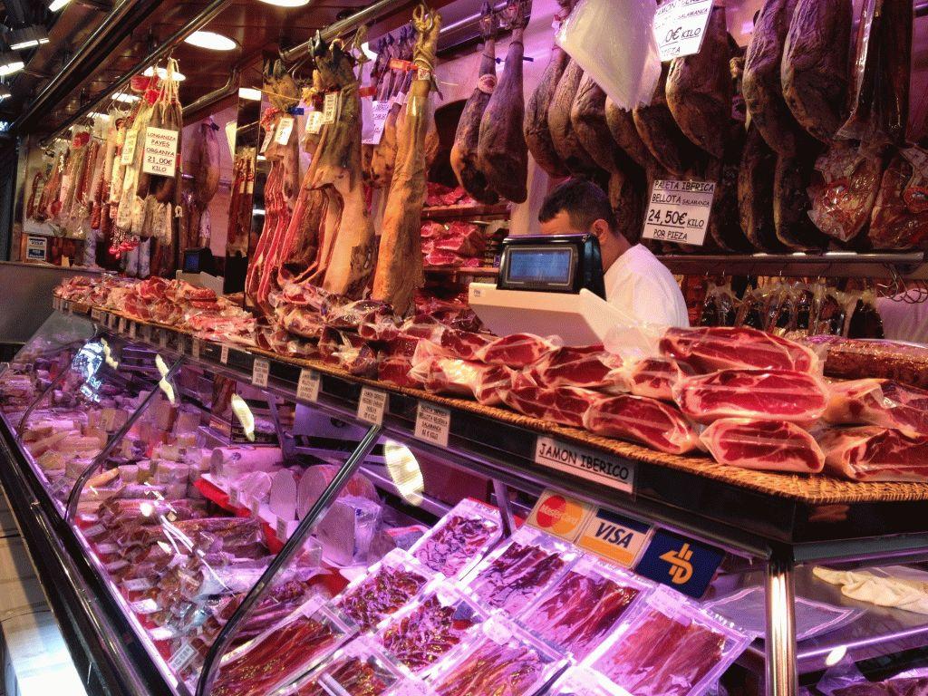 мясные ряды рынок Бокерия Барселона фото