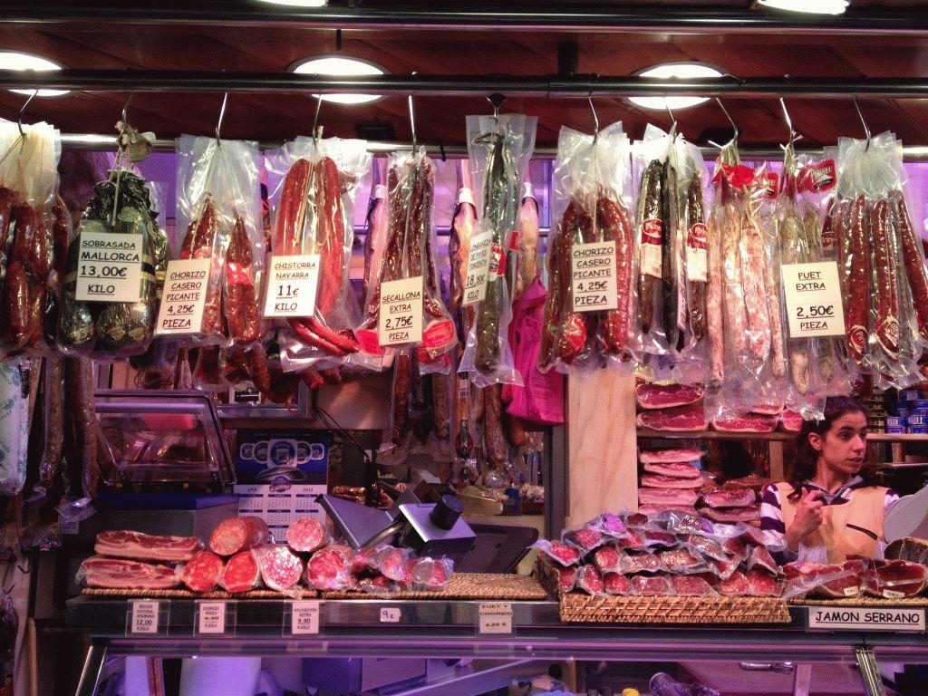 колбаса рынок Бокерия Барселона фото