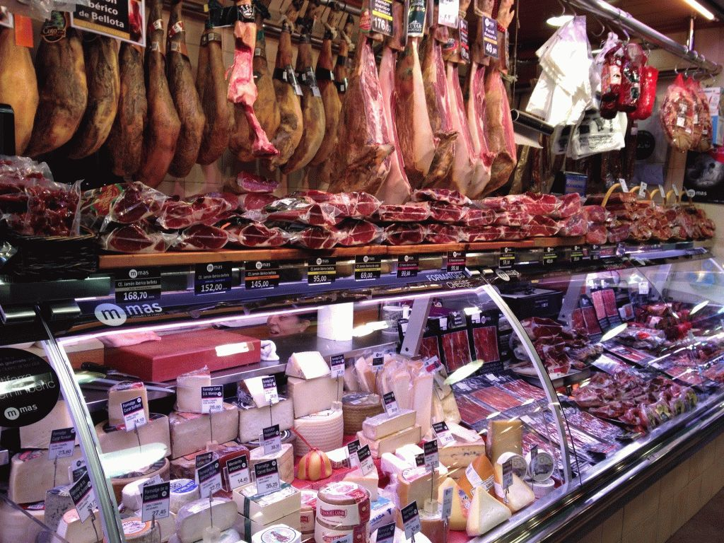 мясо и молоко рынок Бокерия Барселона фото