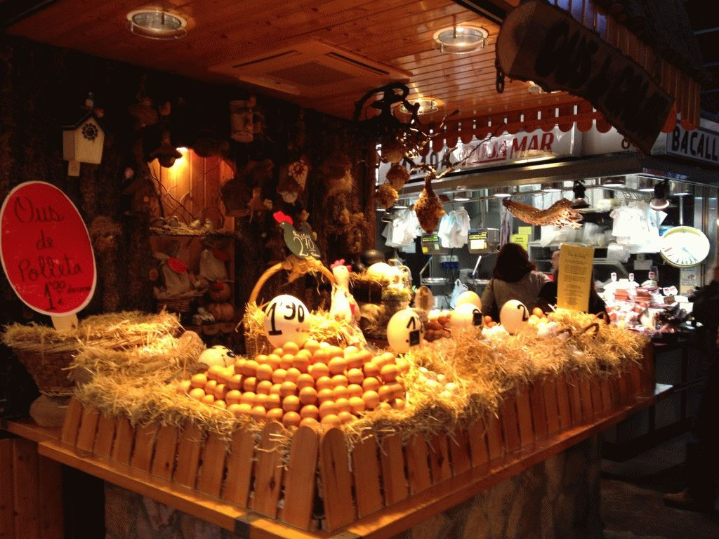 продажа яиц рынок Бокерия Барселона фото