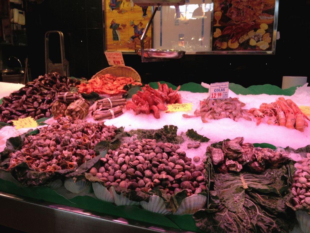 морепродукты рынок Бокерия Барселона фото