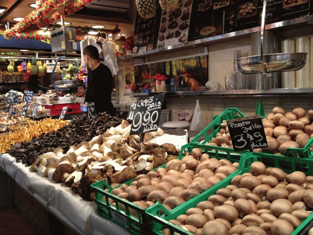грибы рынок Бокерия Барселона фото