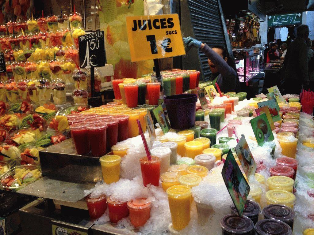соки рынок Бокерия Барселона фото
