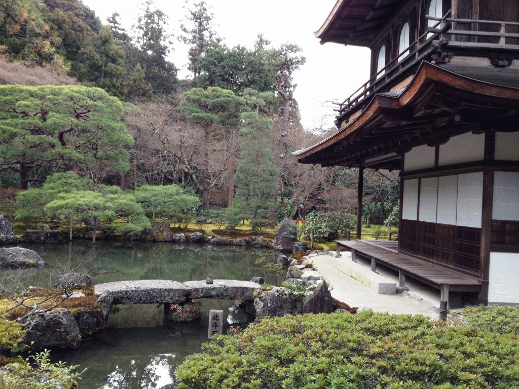 Серебряный павильон Гинкакудзи Киото фото