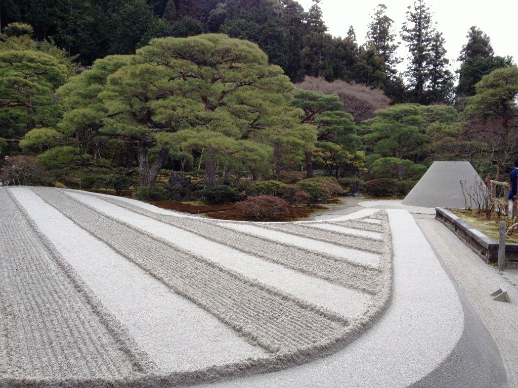 сад камней Гинкакудзи фото Киото