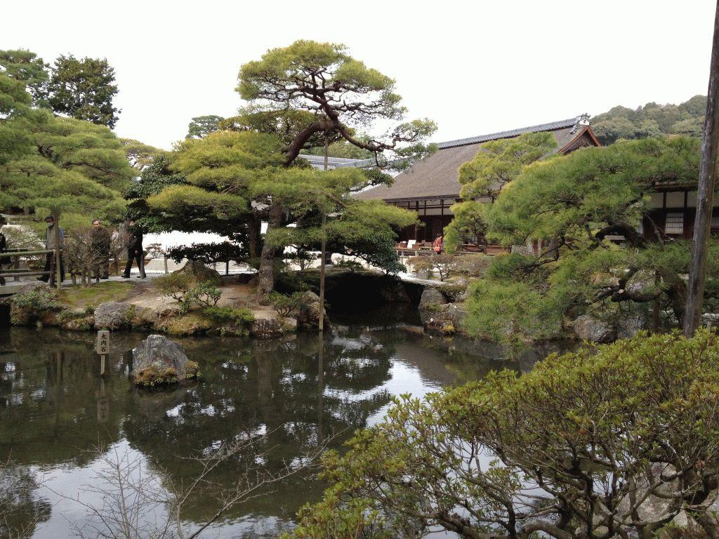 Гинкакудзи сад с прудом Киото фото