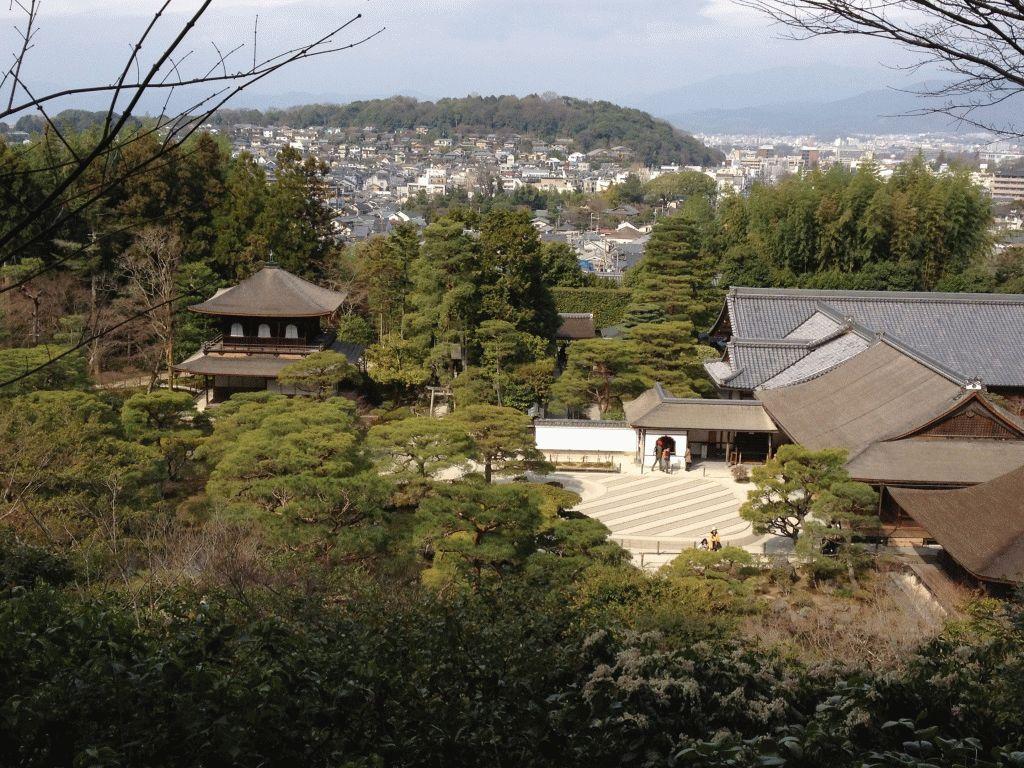 Гинкакудзи фото вид на Киото