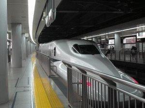 Поезд Синкансен Япония фото