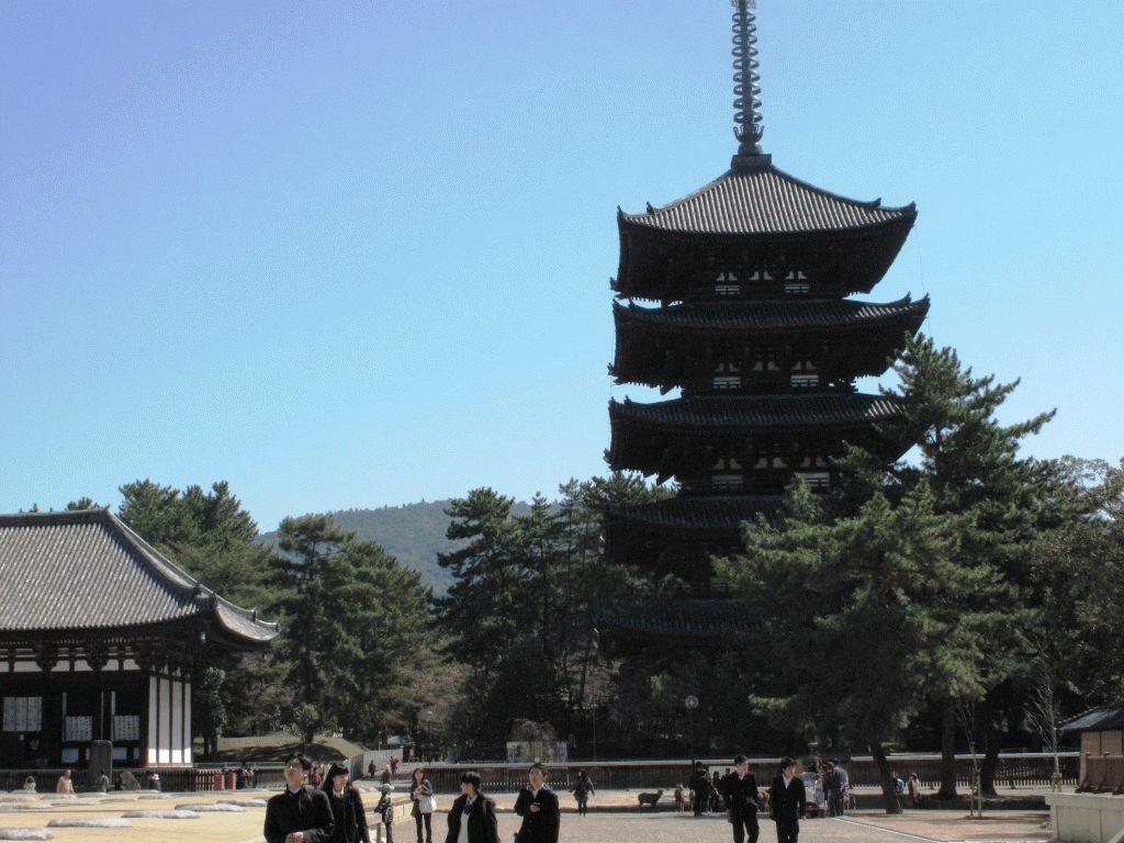пятиярусная пагода Нара Япония фото