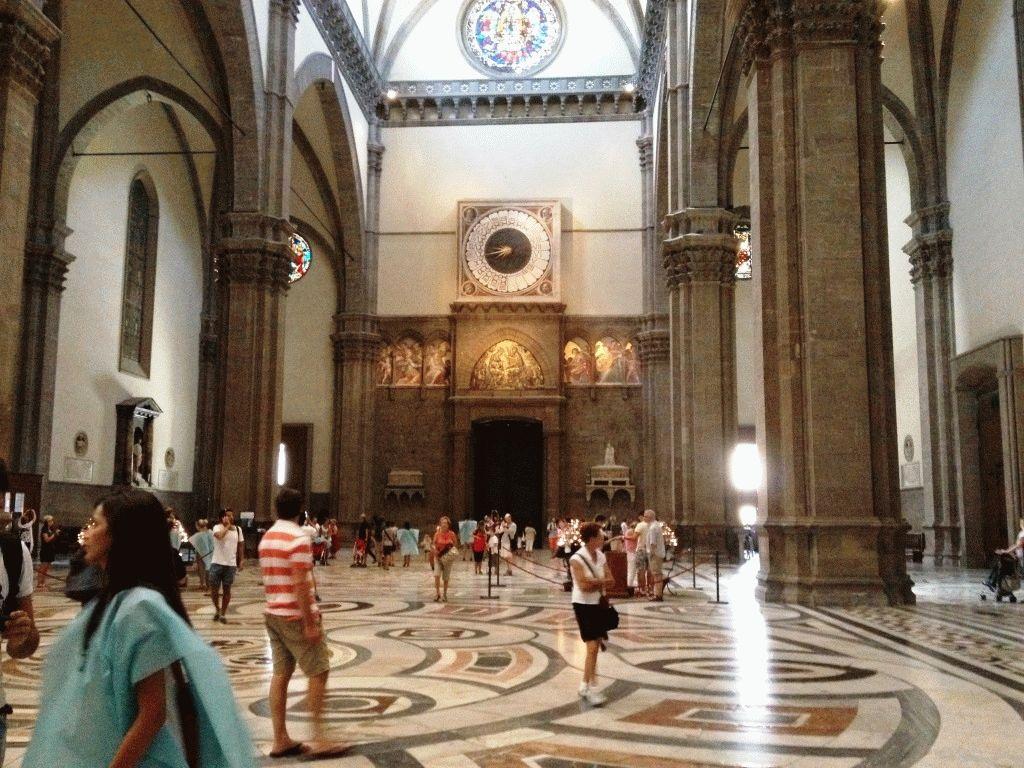 внутри собор Санта Мария дель Фьоре Флоренция фото