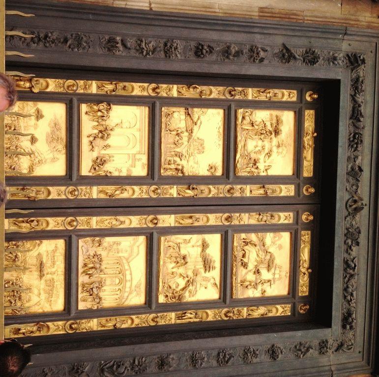 золотые райские врата Баптистерия Флоренция фото