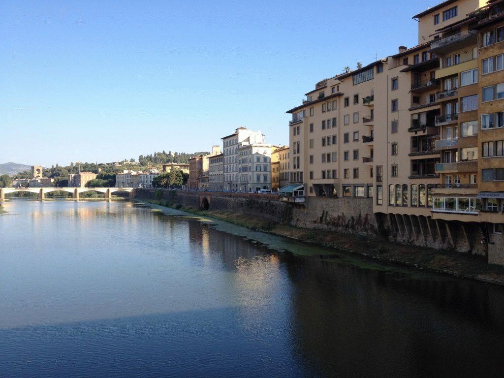 Виды на Флоренцию с моста Ponte Vecchio