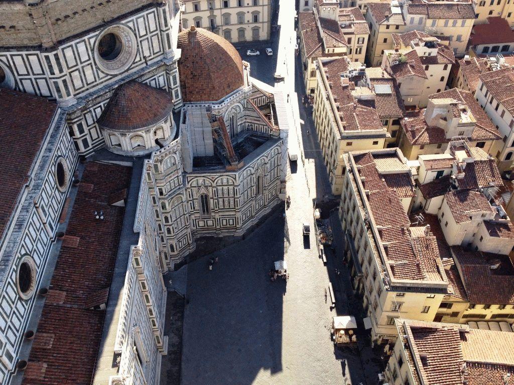 вид с кампанилы на собор Дуомо Флоренция фото