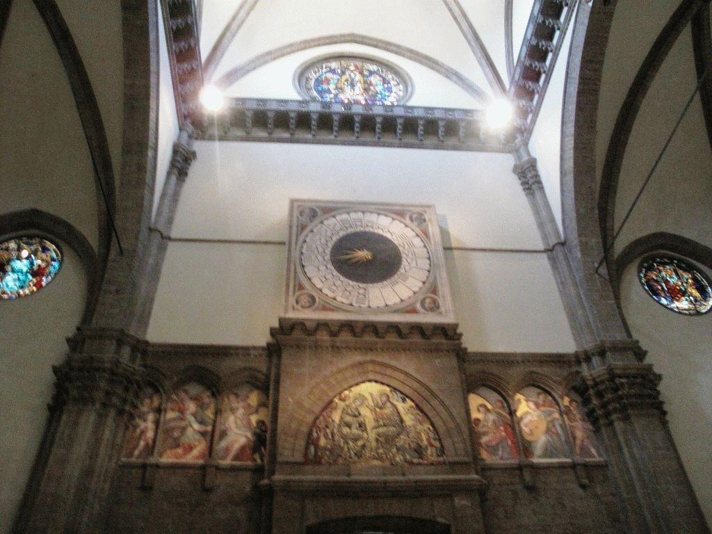 необычные часы Дуомо Флоренция фото