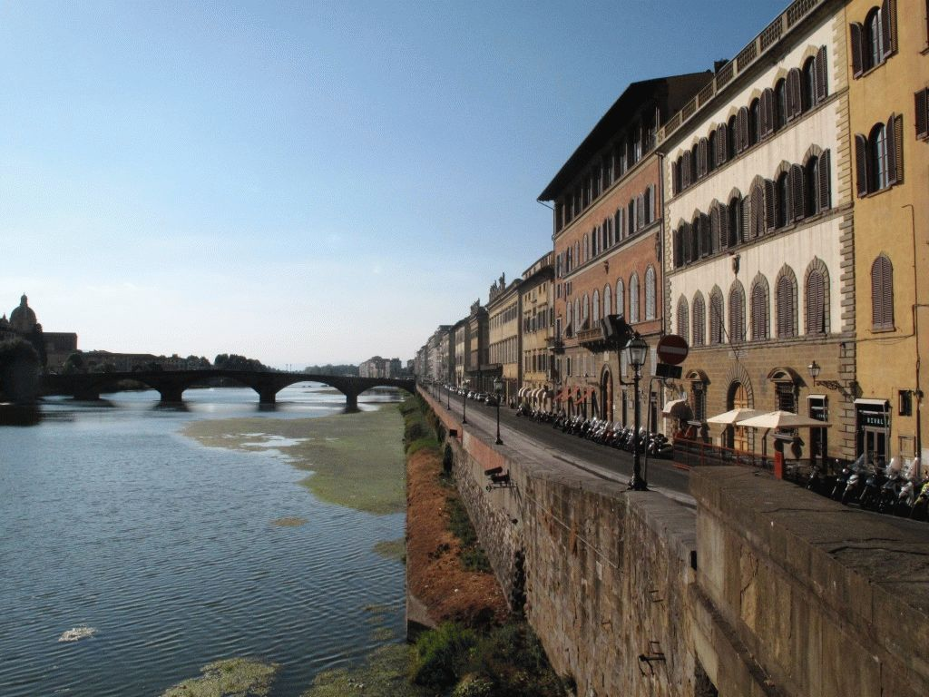 Виды на Флоренцию с моста Ponte Vecchio фото