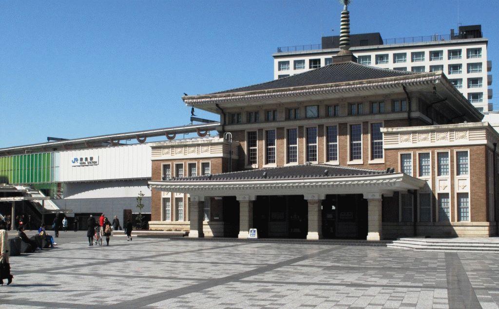 вокзал город Нара Япония фото