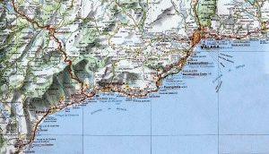 Карта Коста дель Соль Испания