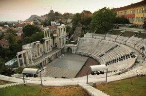 Амфитеатр в Пловдиве фото