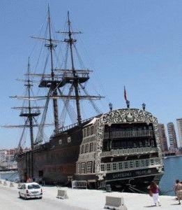 Порт Малага корабль фото