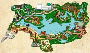 Isla Magica парк карта