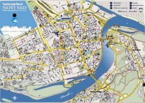 Карта Нови сад