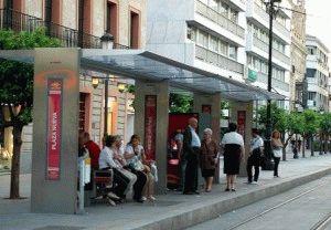Севилья автобусная остановка фото