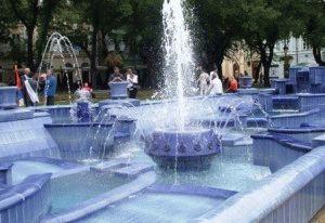 Голубой фонтан Суботица Сербия фото