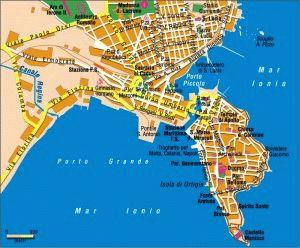 карта Сиракузы Италия скачать