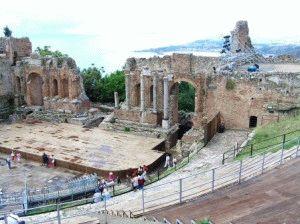 таормина греческий театр фото