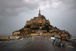 Замок Мон Сен Мишель Нормандия, Франция фото