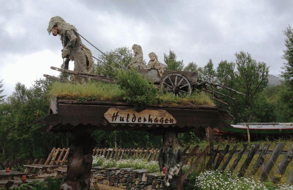парк Сенья Тролль Норвегия фигуры фото