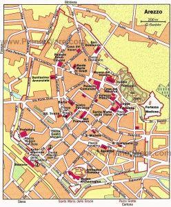 карта Ареццо Тоскана Италия скачать