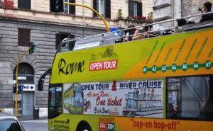 Туристический двухэтажный автобус в Риме Rome OpenTour  фото