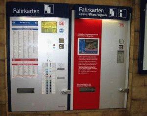 красный автомат покупка железнодорожных билетов Германия фото