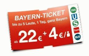 Баварский билет (Bayern Ticket) в Мюнхене фото
