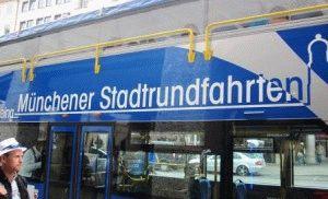 туристический двухэтажный автобус Туристик бас Stadtrundfahrt Мюнхен фото
