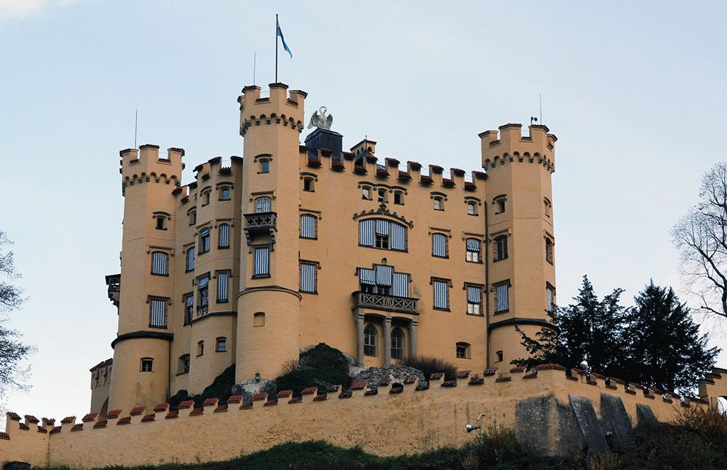 Замок Хоэншвангау бавария фото