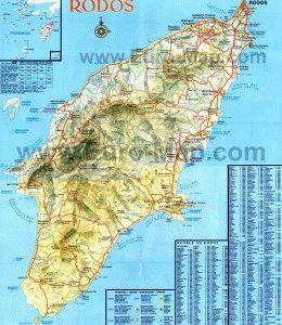 карта Родос Греция скачать