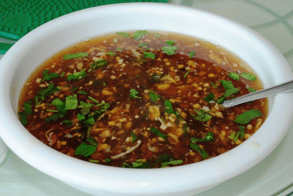 суп, с зеленью и с тофу фото