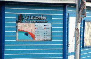 le-lavandu пляж франция