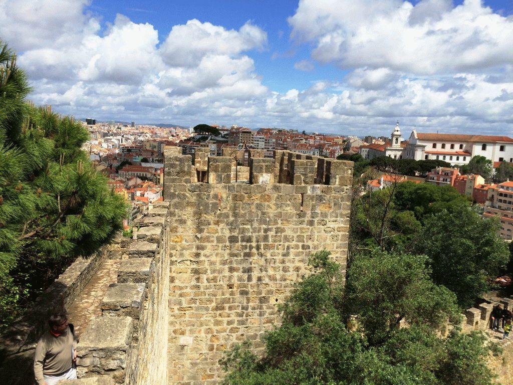 Замок Святого Георгия в Лиссабоне – история и фото